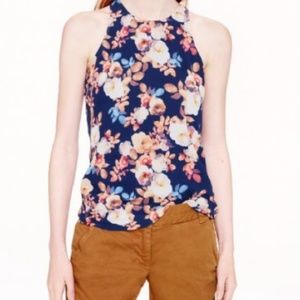 J.Crew Antique Floral Print Sleevless Top